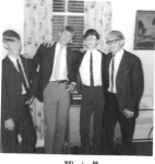 Just so everyone will remember what real trouble makers were like in 1966. Here getting ready for the 9th grade end of y